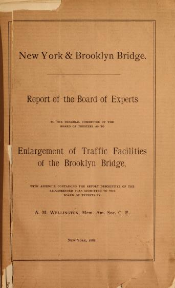 New York & Brooklyn Bridge by Brooklyn Bridge (New York, N.Y.). Board of Experts